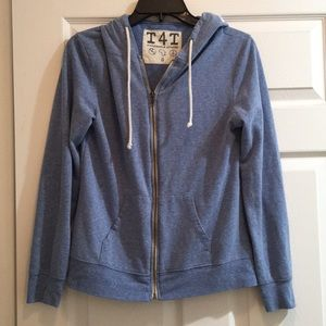 Jackets & Blazers - T4T Blue Zip Up Hoodie